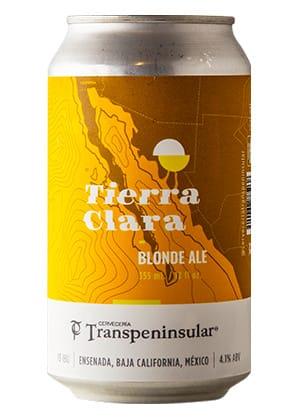 Cerveza tierra clara en lata