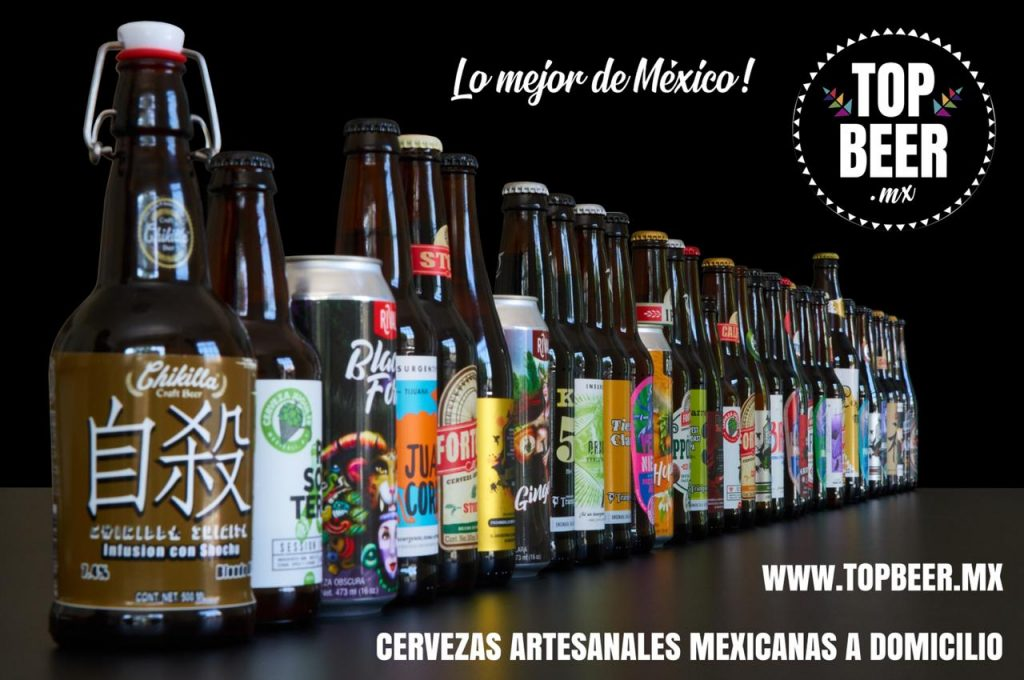 cervezas artesanales mexicanas a domicilio Top Beer MX