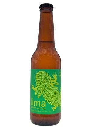 Cerveza Artesanal Pilsner con Lima de Cervecería Monstruo de Agua.