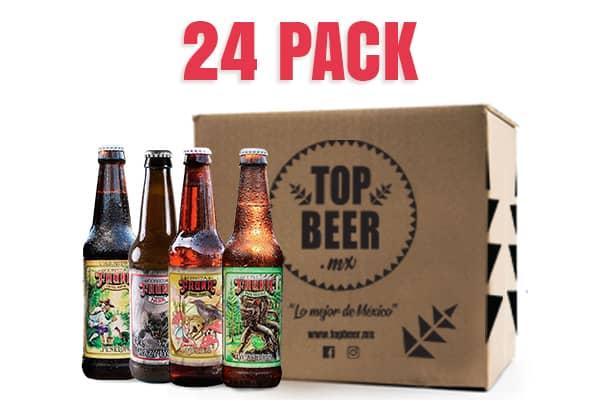 Pack de 24 cervezas de cervecería Fauna