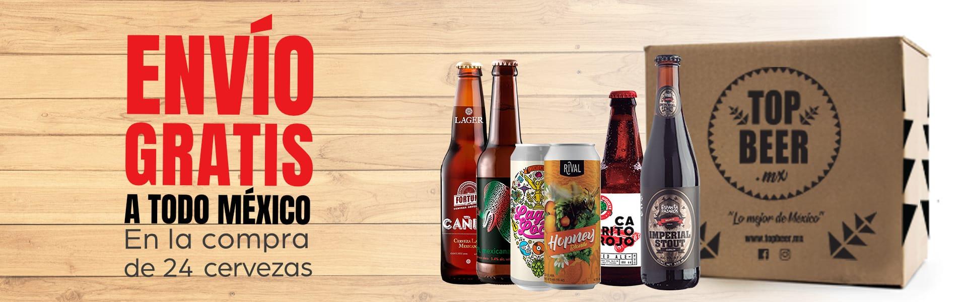 Envío gratis a todo México en cervezas artesanales. En la compra de 24 cervezas.