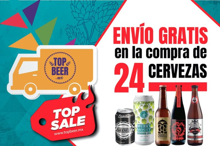 Promo Envío gratis en la compra de 24 cervezas