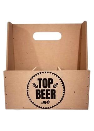 Porta Cerveza de madera para 6 cervezas