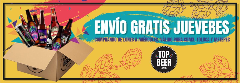 Banner Envio gratis juevebes Top Beer
